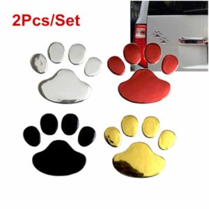 2Pcs Set Car Sticker Cool Design Paw 3D Animal Dog Cat Bear Foot Prints Footprint Decal