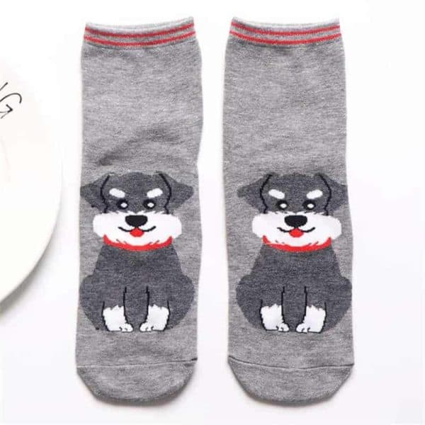 Fashion Cartoon Cotton Socks Women Korean Kawaii Dog Print Women Cute Socks Casual Meias Funny Harajuku 4