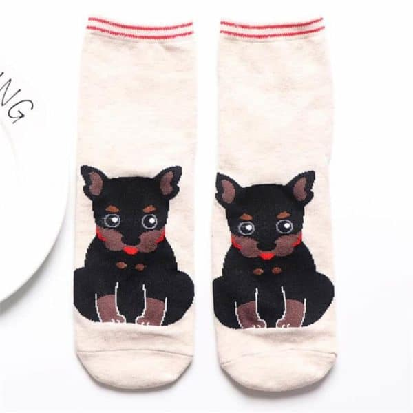 Fashion Cartoon Cotton Socks Women Korean Kawaii Dog Print Women Cute Socks Casual Meias Funny Harajuku 5