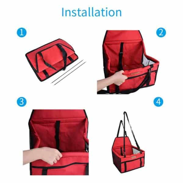 Pet Dog Car Seat Front Seat Basket for Dog Cat Portable 2 in 1 Dog Seat 4