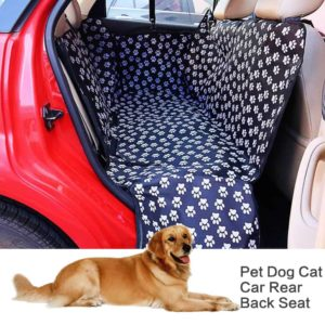 Pet carriers Oxford Fabric Paw pattern Car Pet Seat Cover Dog Car Back Seat Carrier Waterproof 6