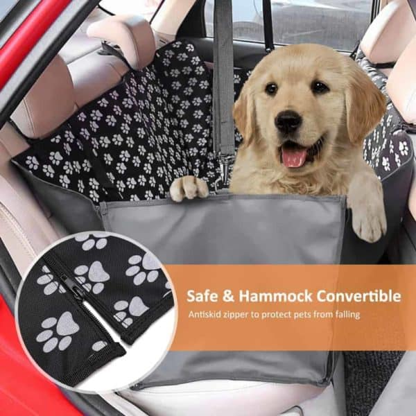 Pet carriers Oxford Fabric Paw pattern Car Pet Seat Cover Dog Car Back Seat Carrier Waterproof 7