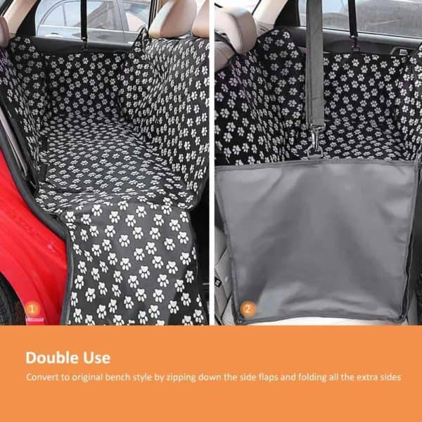 Pet carriers Oxford Fabric Paw pattern Car Pet Seat Cover Dog Car Back Seat Carrier Waterproof 8