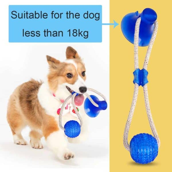 Multifunction Pet Molar Bite Dog Toys Rubber Chew Ball Cleaning Teeth Safe Elasticity Soft Puppy Suction 1