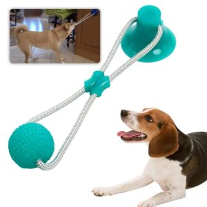Multifunction Pet Molar Bite Dog Toys Rubber Chew Ball Cleaning Teeth Safe Elasticity Soft Puppy Suction