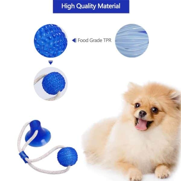 Multifunction Pet Molar Bite Dog Toys Rubber Chew Ball Cleaning Teeth Safe Elasticity Soft Puppy Suction 4
