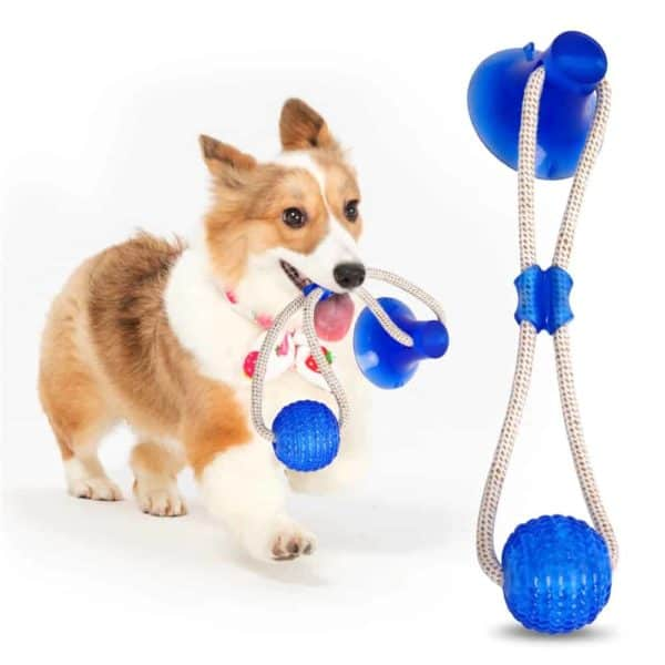Multifunction Pet Molar Bite Dog Toys Rubber Chew Ball Cleaning Teeth Safe Elasticity Soft Puppy Suction 5