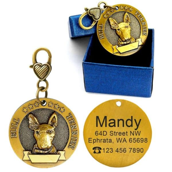 Dog ID Tag Engraved Personalized Metal Pet Dog Tags Custom Puppy Cat ID Name Tags Collar 3