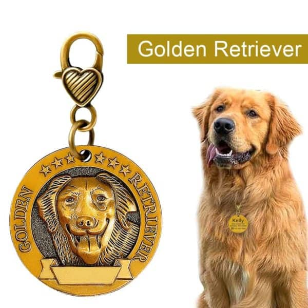 Dog ID Tag Engraved Personalized Metal Pet Dog Tags Custom Puppy Cat ID Name Tags Collar 5